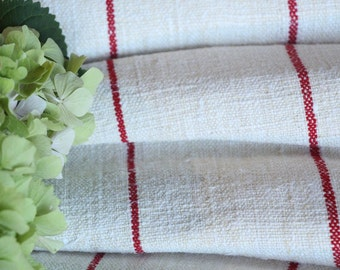 P 328 antique hemp linen roll FRENCH RED 천 grainsack fabric 2.95yards wedding decor lin 20.47wide