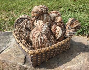 Handspun yarn - Alpaca random naturals all one of a kind