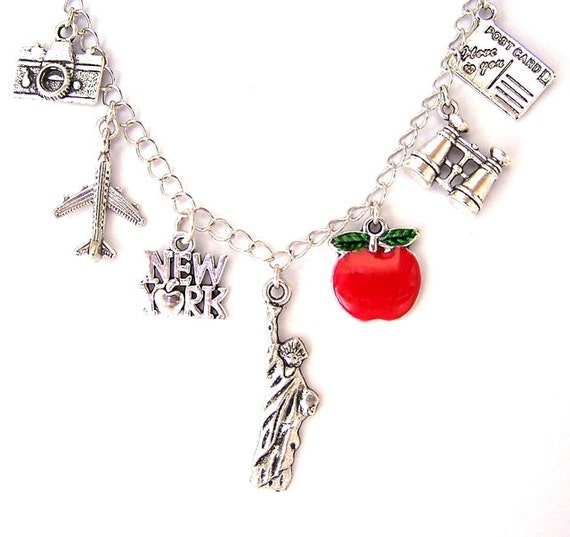 new york city necklace or new york city bracelet nyc charm