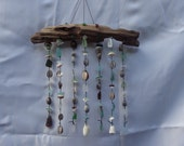 Sea glass and sea shell wall decor / wind chime