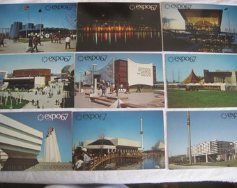 Vintage postcards, Expo67, Montreol, Canada, 20 postcards, collectibles