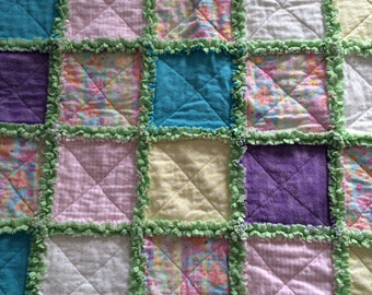 Paisley and Butterfly Rag Quilt