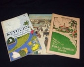 1960's Keyguide to Key West & Florida Keys} 1970's Stories of Old St. Augustine} 1980's Pictorial Guide of Coral Gables- FLORIDA BOOKS