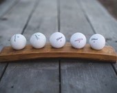 Wine Barrel Golf Ball Display