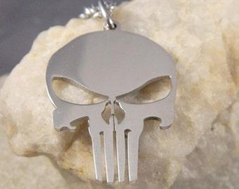 Biker Skull Stainless Steel Necklace