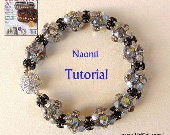 Naomi SuperDuo-Pinch Bracelet PDF Tutorials