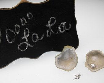 MINI GEODE 00561-630a premium white precious gemstone earring set diy kit w cz ss hooks tiny little baby quartz drusy pre drilled pair