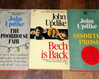 John Updike Vintage Paperback Book Lot of Three