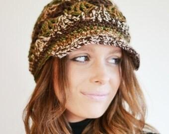 ON Sale SALE Chunky Newsboy Hat, Baker Boy Hat, Womens Peaked Hat, Uk Winter Hat,