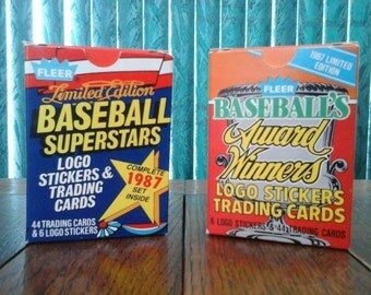 Fleer Super Stars and Award Winners Baseball Card Sets 1987