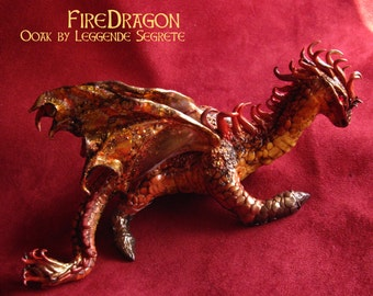 MADE TO ORDER Little Polymer Clay Dragon