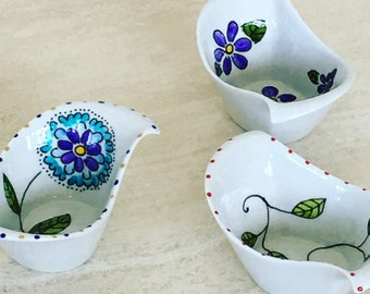 Hand painted porcelain small catch all dish