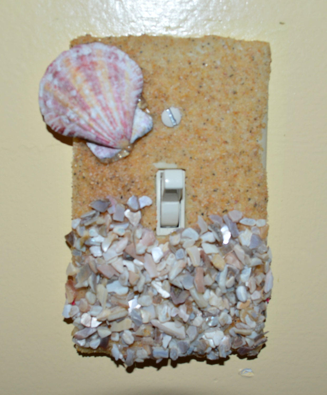 Beach Switch Plate Cover Shell Light Switch By Leaniesloft