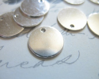 "5 pcs,, Round Blanks Discs, Circle Blanks, 9 mm, Sterling Silver, 24 ga, 3/8"", custom stamping blank110.v1"