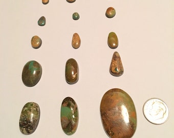 Reduced Again Natural Royston Turquoise Cabochons