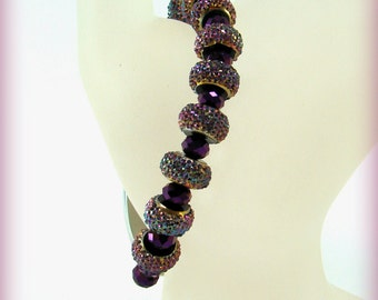 Purple Glitter Sparkle Medical ID Alert Replacement Bracelet