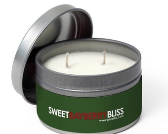 SALE 4oz Sweet Bayberry Soy Candle (tin)