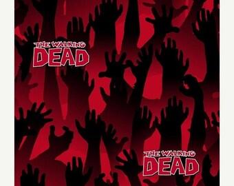 ON SALE - Red and Black The Walking Dead  - Pleated Bag, Adjustable Strap, Purse, Shoulder Bag, Hobo, Lined, Outside Pockets