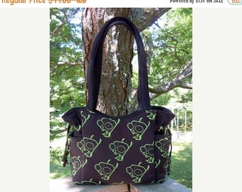 ON SALE - Invader Zim GIR Anime - Handbag, Purse, Tote, Shoulder Bag, Adjustable Strap, Outside Pockets