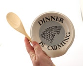 Game of Thrones spoon rest, Dinner is coming, House of Stark, Jon Snow home and living, kitchen, ceramics and pottery