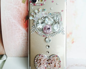 Apple iphone 5 case, Love Kitty Crystalized with swarovski crystal rhinestone