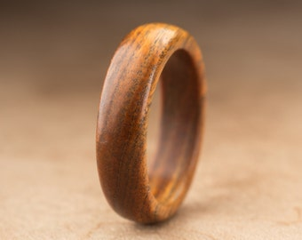 Size 8 - Guayacan Wood Ring No. 386