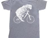 Polar Bear on a Bike - Mens American Apparel TriBlend Shirt