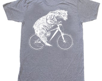 Polar Bear on a Bike - Mens American Apparel TriBlend Shirt