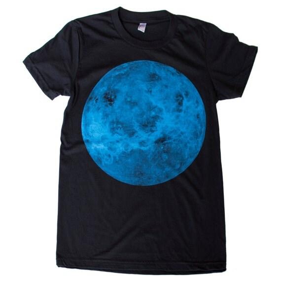 Womens VENUS planet t-shirt S M L Xl xxL (Black)