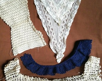 Lot of Vintage Pieces of Lace some Collars