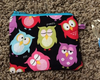 Owl Zippered Pouch/Coin Purse