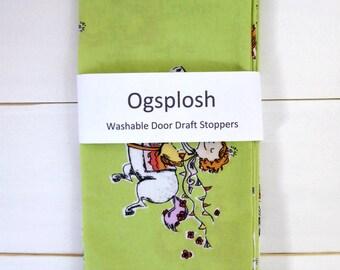Draft Stopper - Kids Room Decor  - Green Door Snake - Nursery Decor - Princess Draft Stopper. 63.
