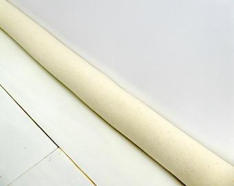 Door Draft Stopper - Cream Door Snake - Modern Home Decor - Plain Draft Stopper. A4312.