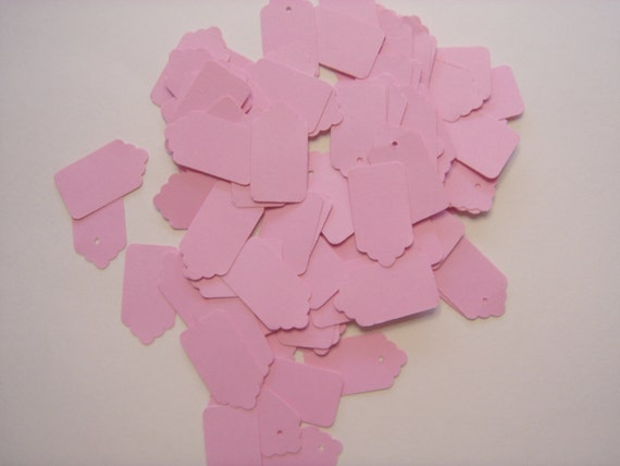 Tags 200  Small Light Pink,  200 Small Light Pink Tags, 200 Small Cotton Candy  Pink Tags