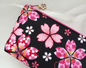 Sakura Cosmetic Purse / Zipper Pouch
