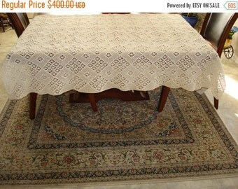 CHRISTMAS IN JULY 10% Off Brand New Handmade Crochet tablecloth-Doily Runner, Long Rectangle, Crochet Lace Bedroom Curtain, Unique Crochet