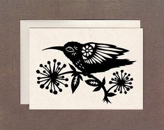 Hummingbird - Notecard
