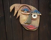 Bad Hair Day Picasso inspired Abstract ceramic Mask