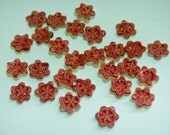 Tiny Red Flower Mosaic Tiles