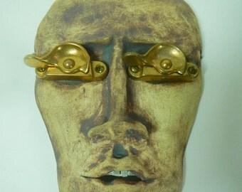 See No Evil Ceramic Mask-Whimsical wall art