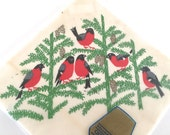 FINAL CLEARANCE SALE Vintage Paper Napkins Birds Robins Norway Package of 20 New Old Stock