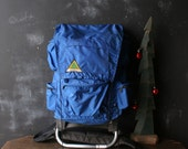 Choose A Back Pack Bohemian Style Either The Red which is REI  or The Blue Stansport Highlanders Nice packs on Frame From Nowvintage on Etsy