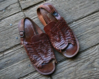 Bohemian Fashion Leather Huraches Sandals Boho Chic Womens Vintage From Nowvintage on Etsy