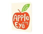 big apple card - you're the apple of my eye - love card - anniversary card - valentine - letterpress love card - LP1532