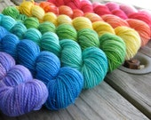 Rainbow of Sparkly Mini Skeins