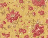 SALE NEW Larkspur by 3 sisters for Moda  Garden Blooms in Straw 1 yard