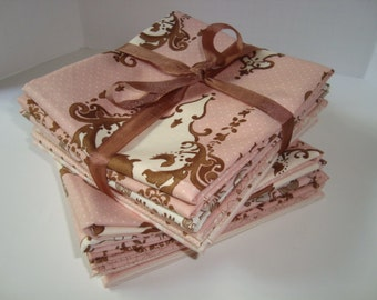 Lily and Will by Bunny Hill for  Moda Pink fat quarter OOP set Please read NO YARDAGE available