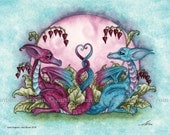 Love Dragons 8X10 PRINT by Amy Brown