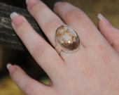 """Sterling Silver Stone Ring Statement Ring Gem Stone Sterling Silver - Item #100110 """"Daisy Ring Series"""""""