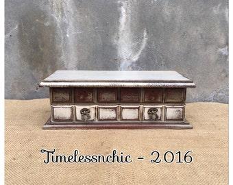 Jewelry Box - Wood Jewelry Box - Wooden Jewelry Holder - Vintage Jewelry Box - Farmhouse Decor - CHIC